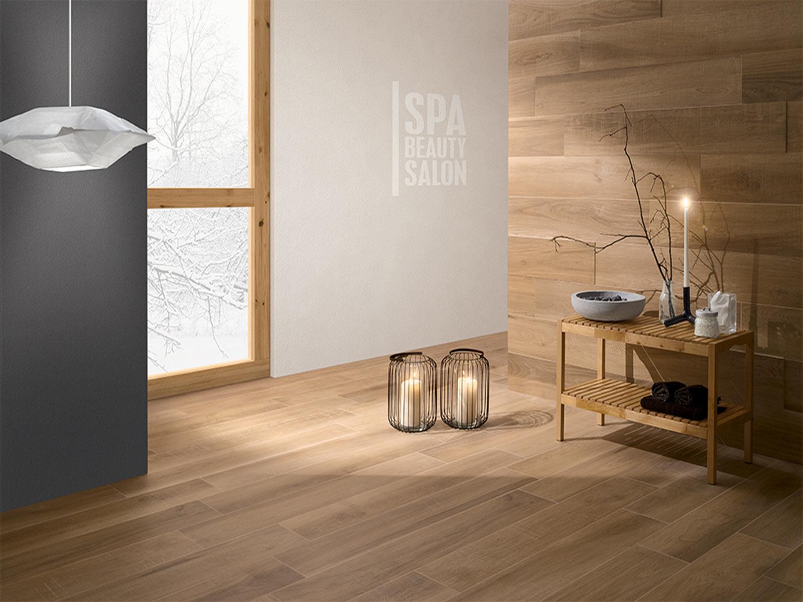 Coem serie Habita effetto legno colore Castagno da Ceramiche Santin a Milano