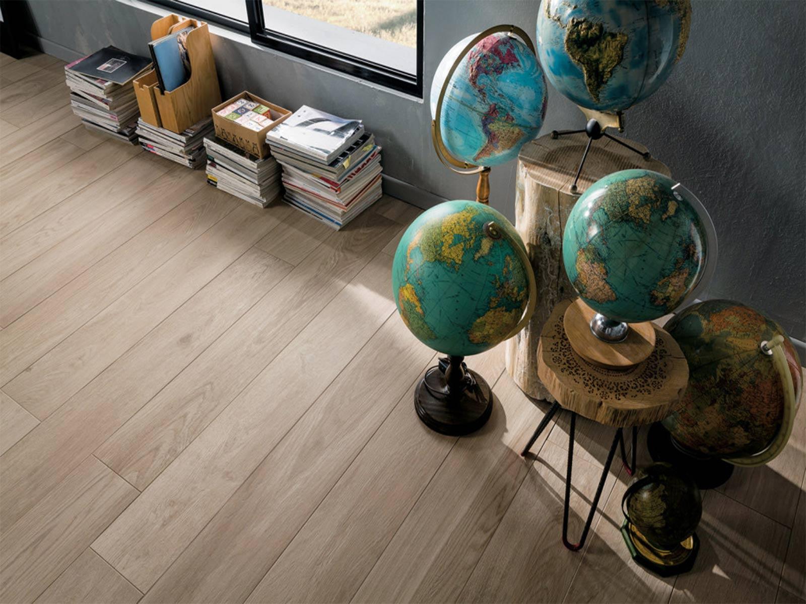 Mirage effetto legno colore Artico da Ceramiche Santin a Milano