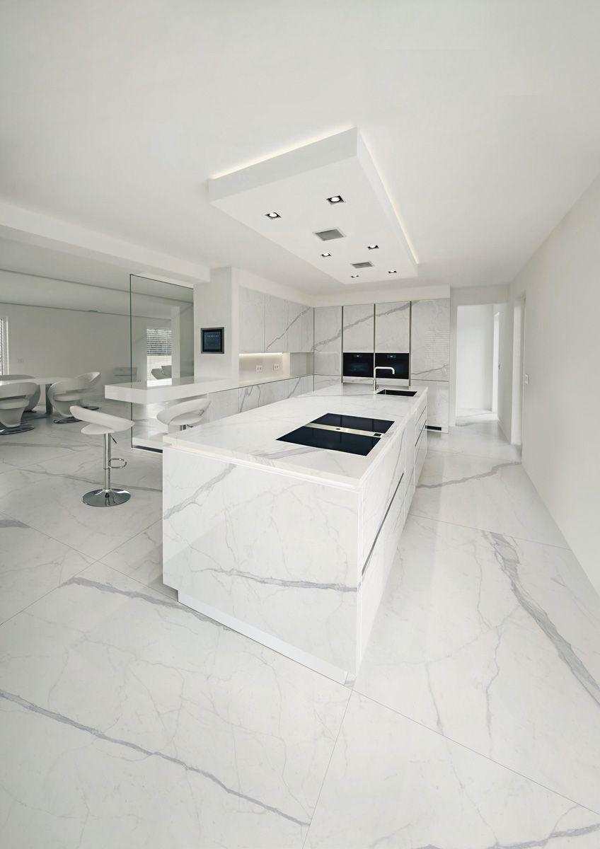 Grandi lastre, Pavimenti Ariostea Effetto marmo da Ceramiche Santin