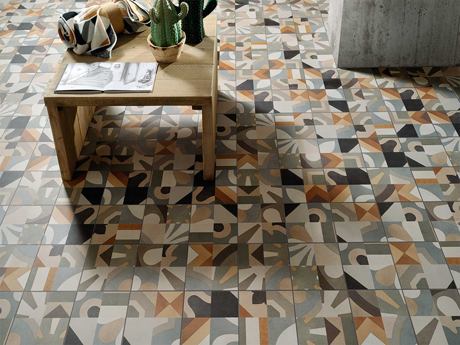 Fantastiche immagini in cementine su subway tiles