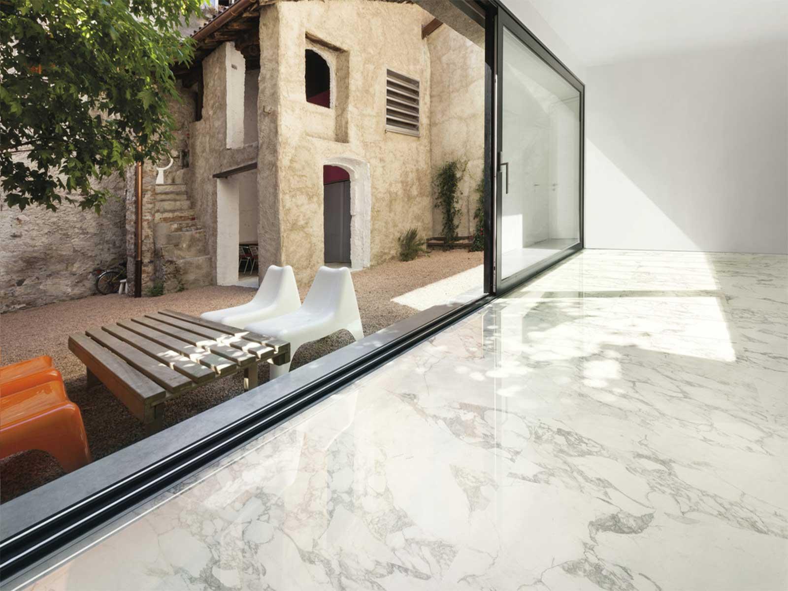 Ceramiche Santin Pavimenti Effetto Marmo Bianco di Ariostea - Arabescato Classico
