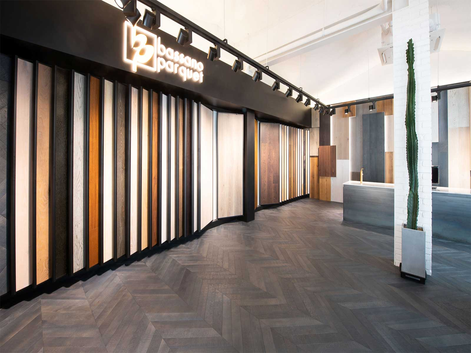 Bassano Parquet showroom di Seoul posa a spina